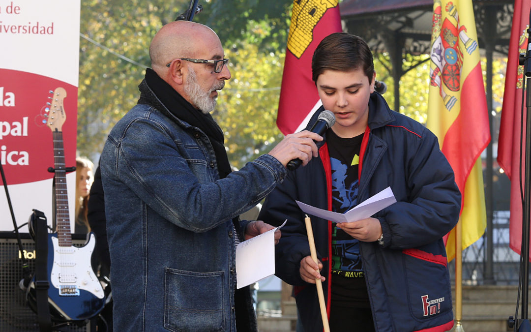 Escolares de C. Real celebran el cumpleaños de la Constitución