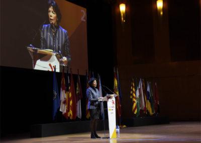 Isabel Celaá, Ministra de Educacion y F.P. en la inauguración spainskills 2019